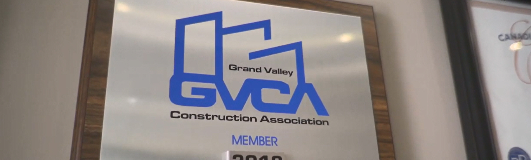 GVCA logo on plaque